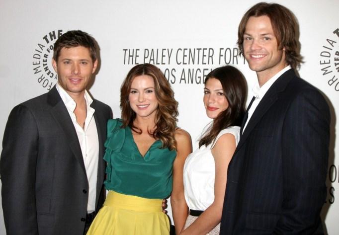 Jensen Ackles, Danneel Harris Ackles, Genevieve Cortese and Jared Padalecki