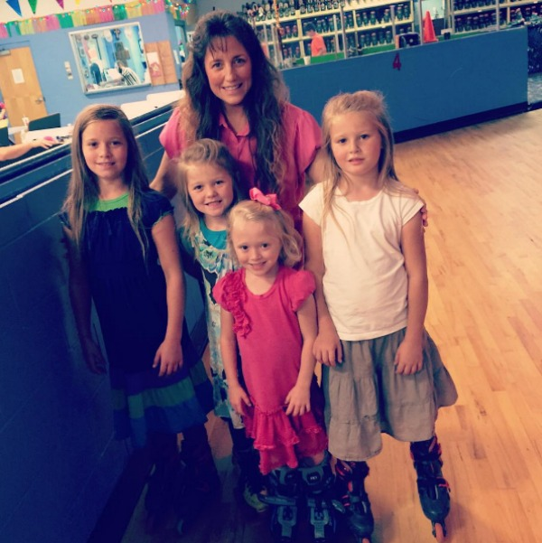 Michelle Duggar and her daughters