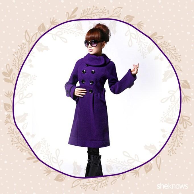 Purple peacoat