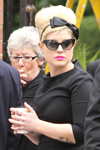 Kelly Osbourne at Amy Winehouse funeral