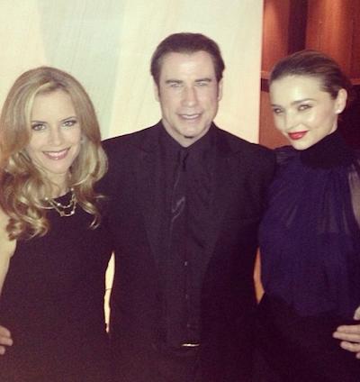Kelly Preston, John Travolta and Miranda Kerr