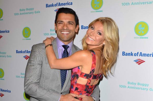 Kelly Ripa and Mark Consuelos at Baby Buggy Gala