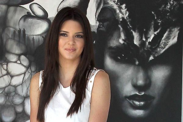 Kendall Jenner at a Victoria's Secret photographer's exhibit.