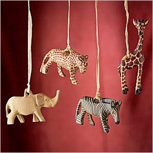 Safari Animal Ornaments