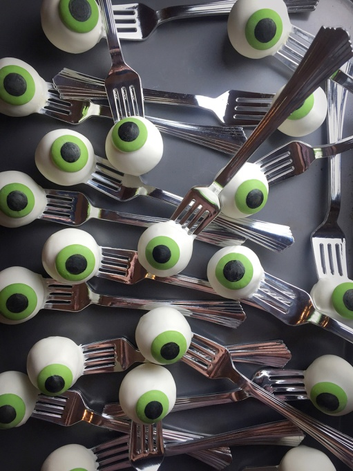 The Best Halloween Desserts on Pinterest: Eyeballs on a fork, anyone?