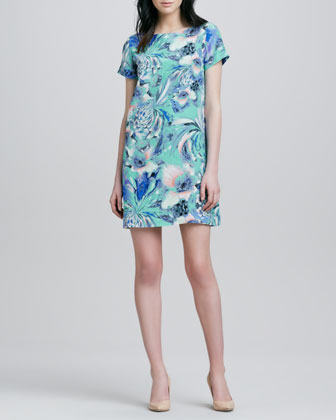 Kerry Washington - Blue floral dress from Ellen Show