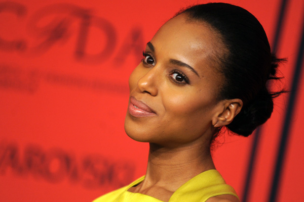 Kerry Washington -- Makeup tips diamond face shapes