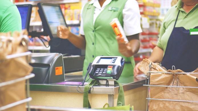 Checkout at supermarket