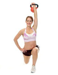 Kettle Bell Lunge
