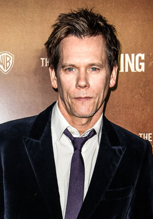 Kevin Bacon at The Following premiere