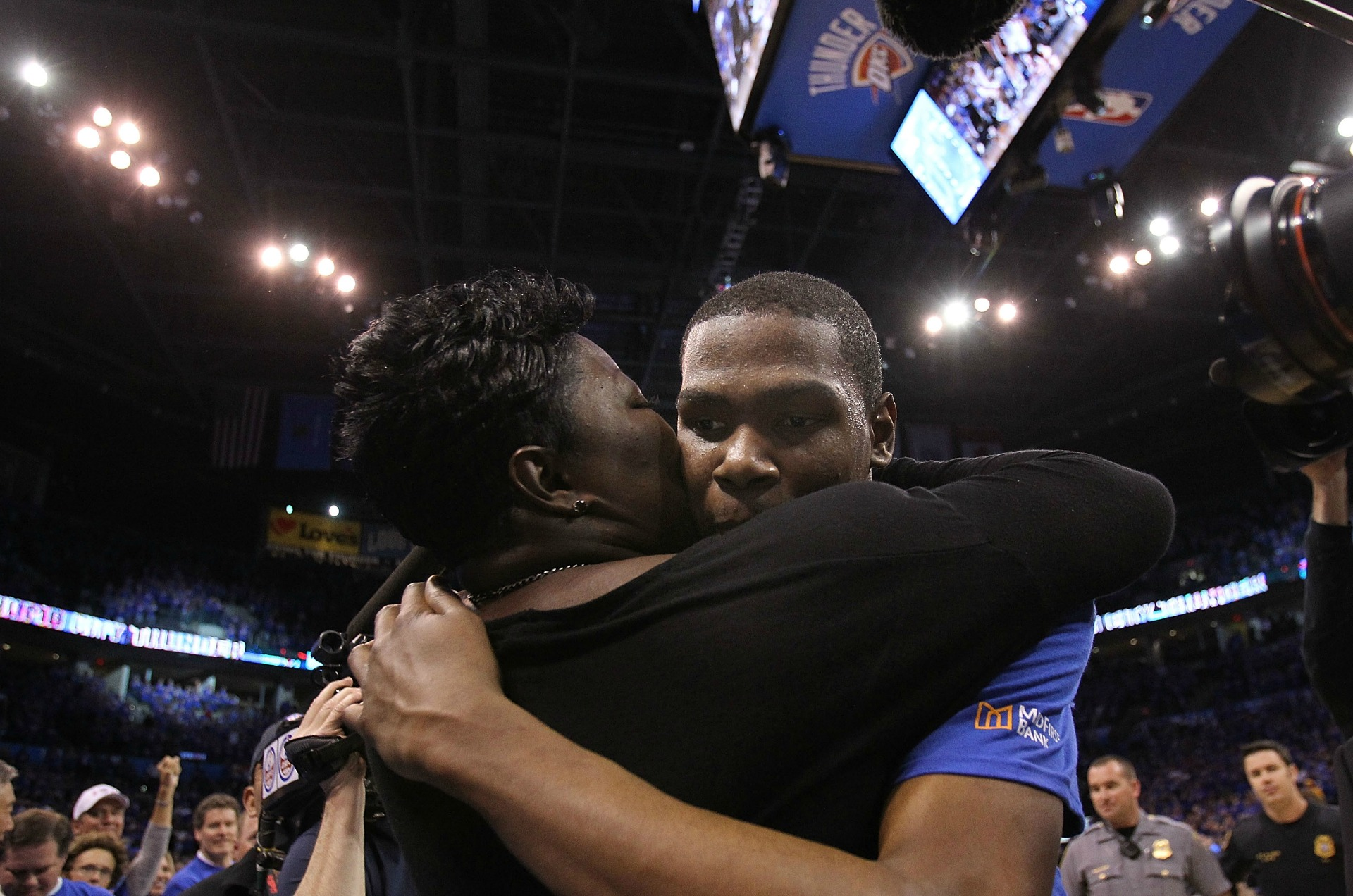 Kevin Durant and mother