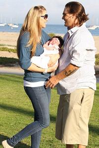 Kevin Federline and baby Jordan