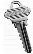 Silver house key
