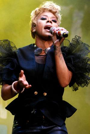 Keyshia Cole onstage
