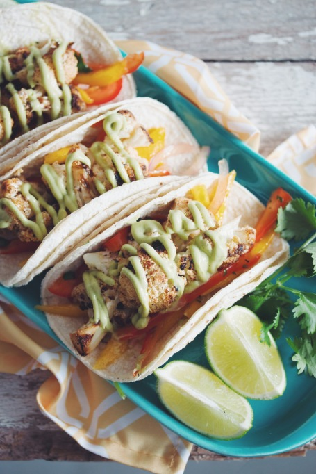 Grilled cauliflower tacos