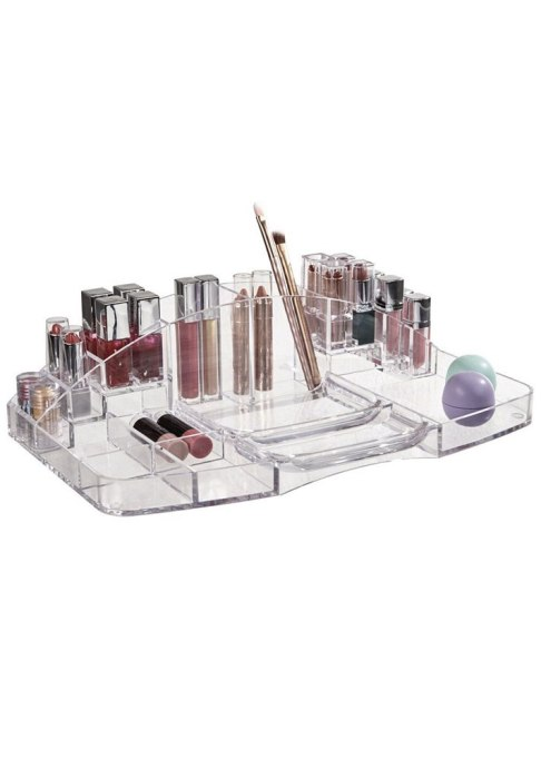 Clear Plastic Vanity Makeup Tray