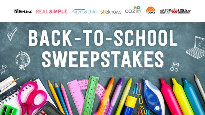 A back-to-school sweepstakes so you'll actually