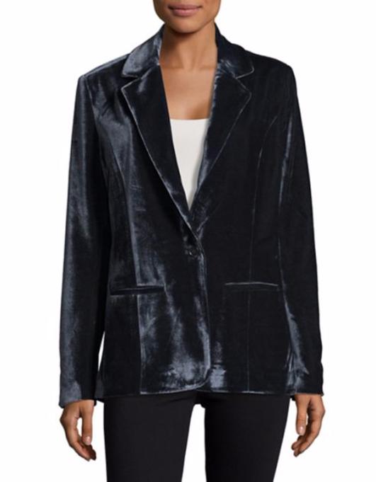 Modern Ways to Wear Blazers: Design Lab Lord & Taylor Starry Velvet Blazer | Fall Fashion 2017