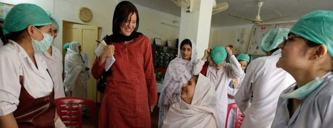 Kim Barker at Afghan hospital