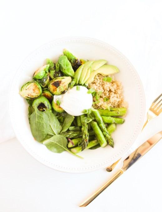 Spring Greens Quinoa Bowl