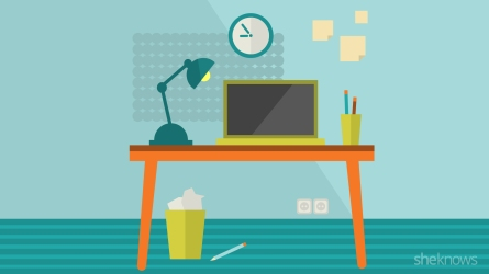 Illustration of a work desk
