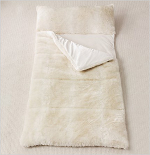 Luxe Faux Fur Sleeping Bag from Restoration Hardware Baby & Child