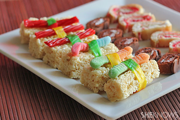 Kid-friendly candy sushi