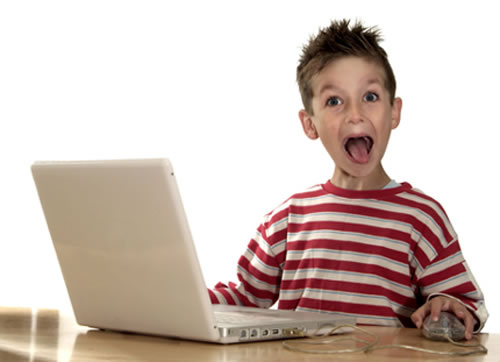 Image result for kid with a computer
