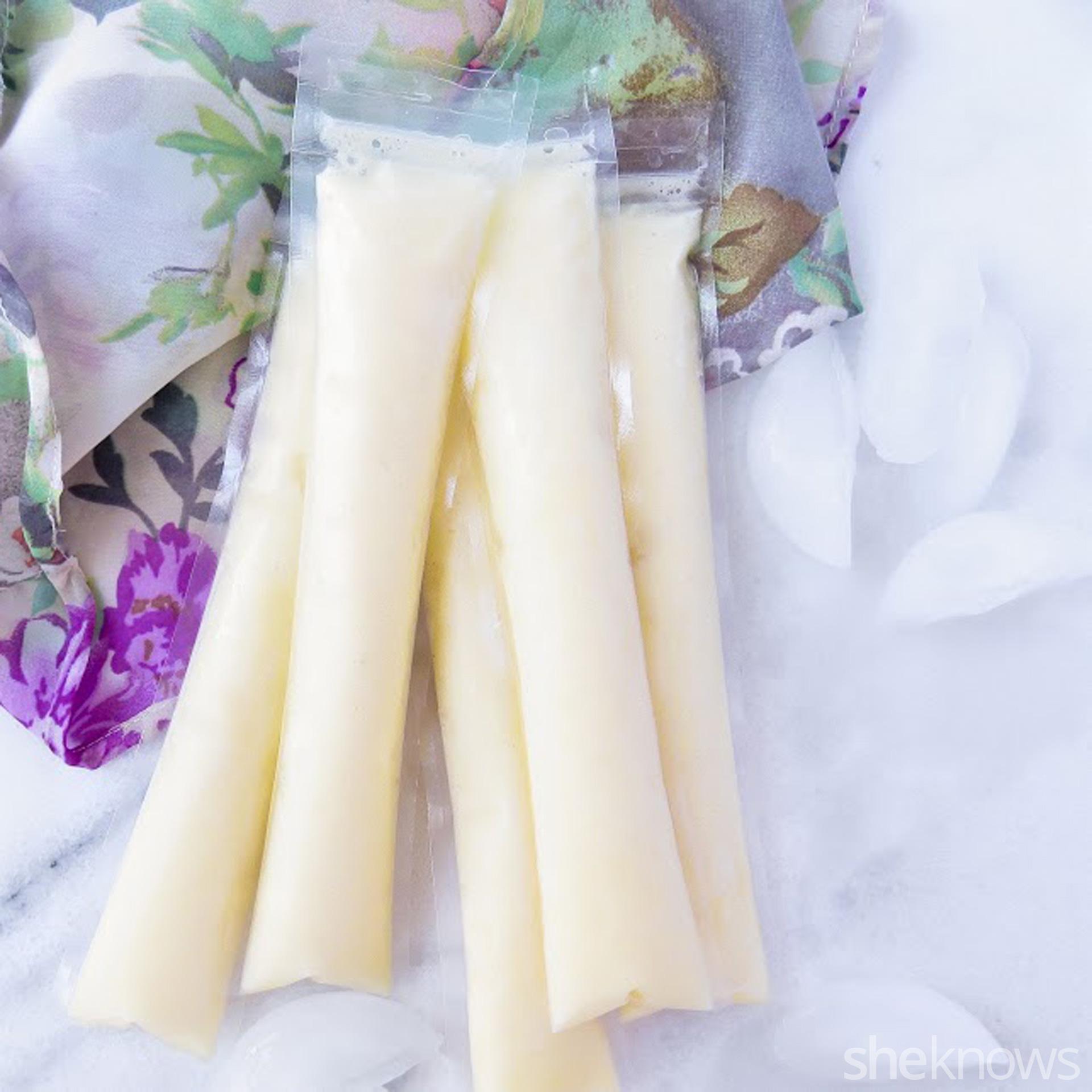 Pineapple whip ice pops