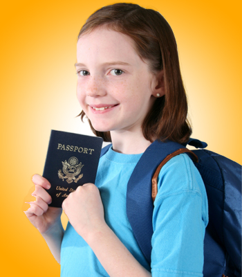 Young Girl and Passport