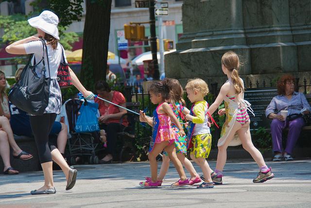 Kids on a leash