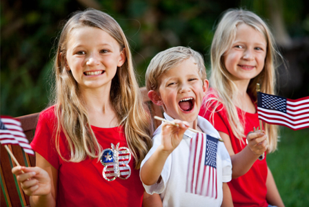 Kids on Independence Day