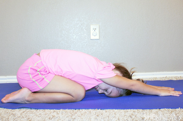 Child's pose - Yoga poses for kids
