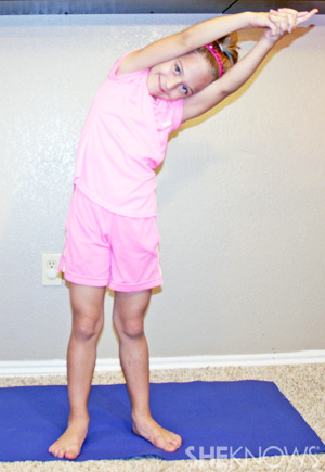 Crescent moon - Yoga pose for kids