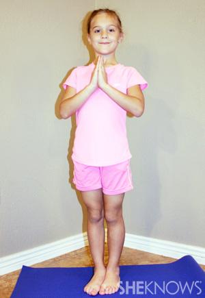 Mountain - Yoga pose for kids