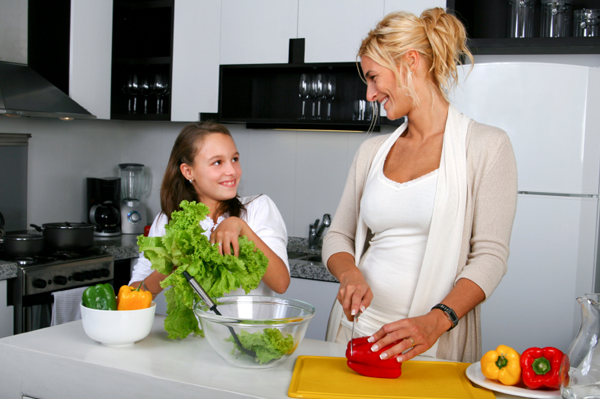 Young Girl in Kitchen