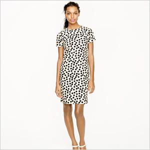 Scattered dot shift dress by J. Crew. (J.Crew, $168)