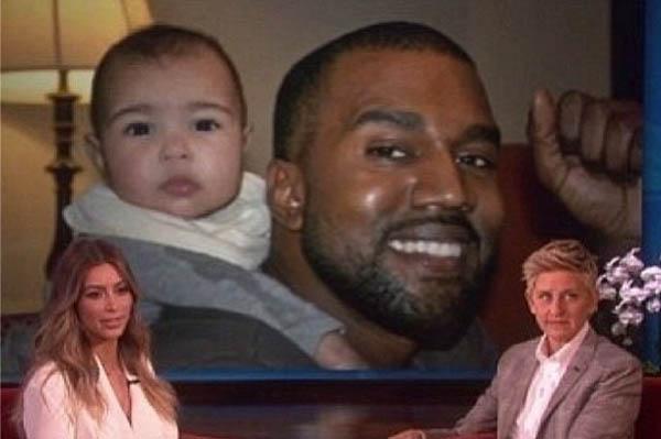 Kim Kardashian on Ellen Nori Kanye West