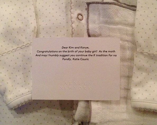 Kim Kardashian posts Katie Couric gift and note