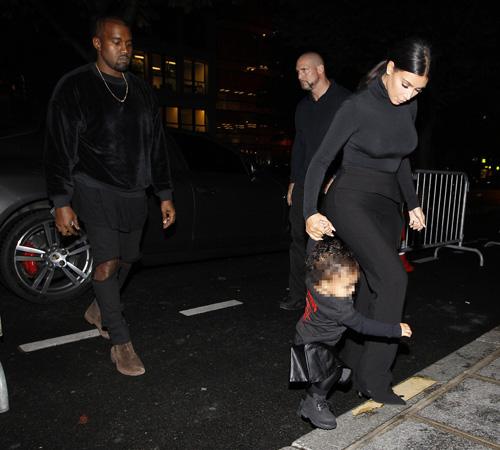 Kim Kardashianl, Kanye West, North