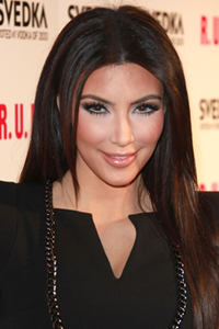 Kim Kardashian with brown hair