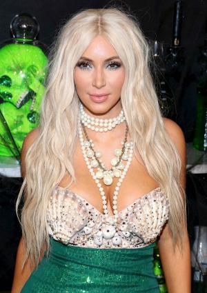 Kim Kardashian as a Mermaid Halloween 2012