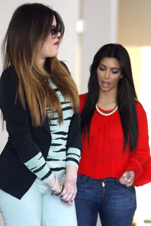 Kim Kardashian and Khloe Kardashian confront driver
