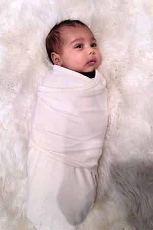 Kim Kardashian shares photo of North West