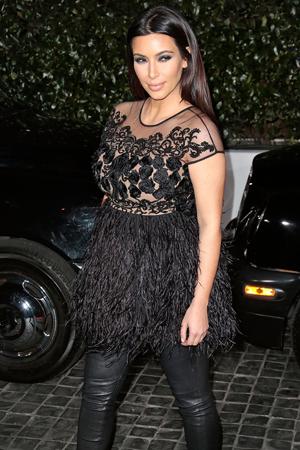Kim Kardashian maternity style