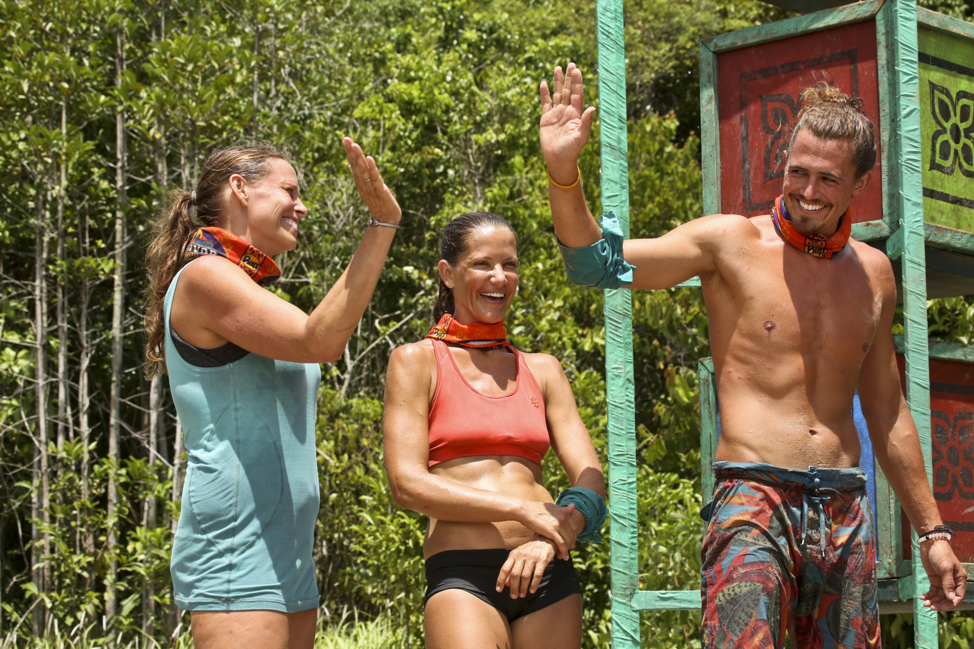 Kimmi Kappenberg, Kelly Wiglesworth and Joe Anglim on Survivor: Second Chance