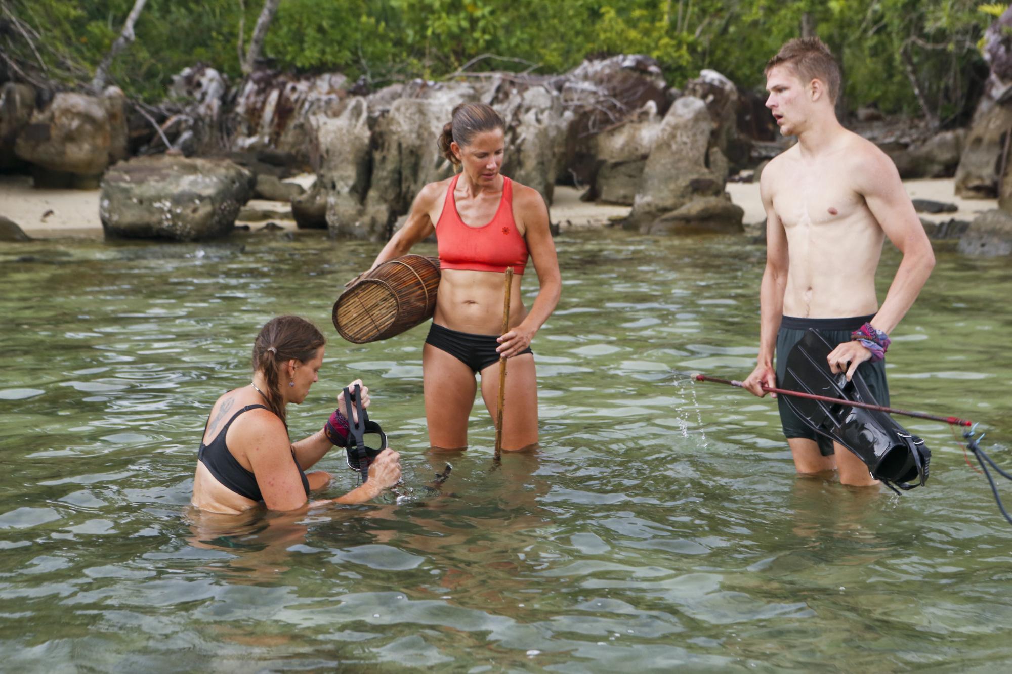 Kimmi Kappenberg, Kelly Wiglesworth and Spencer Bledsoe on Survivor: Second Chance