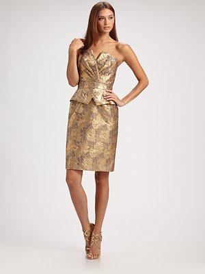 Gold-strapless-dress