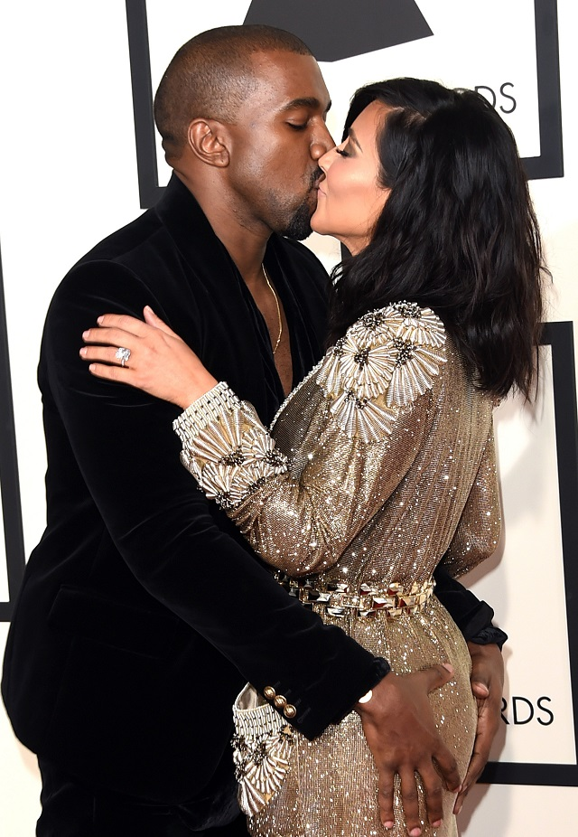 Kimye getting real close at the Grammys