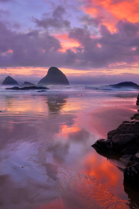 Sunset on a beach in Oregon